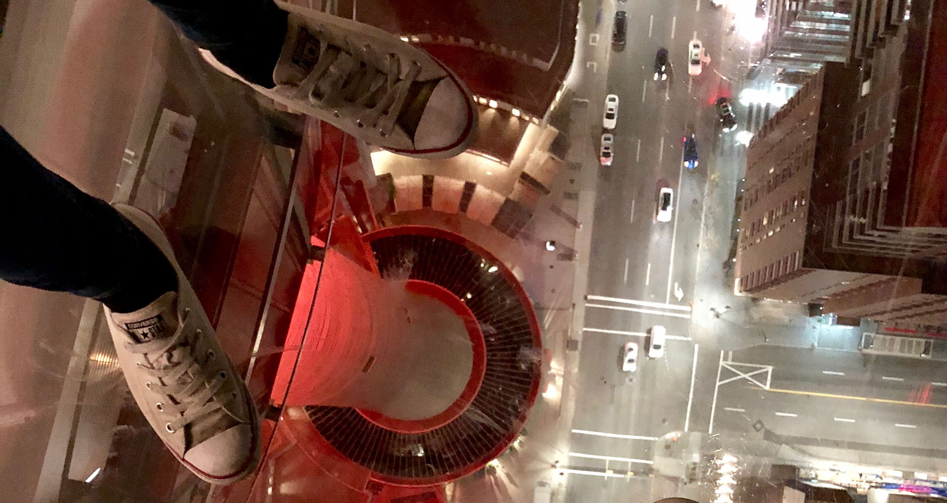 The observation deck in Calgary Tower