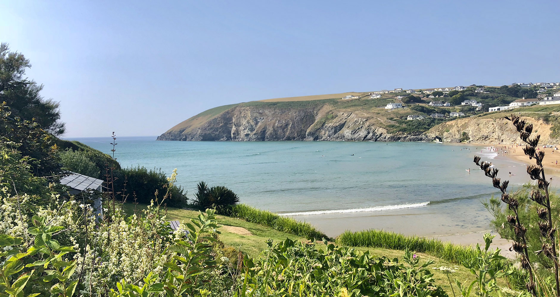 The beautiful beach in Mawgan Porth