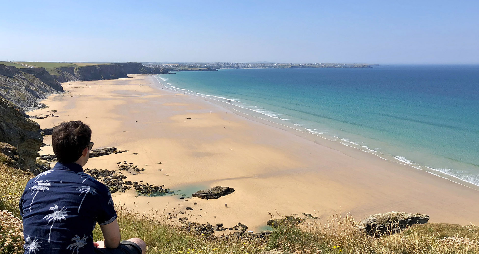 Massive beach at Watergate Bay, Newquay