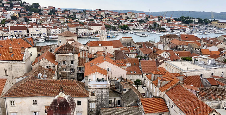 Views of the town of Trogir, Croatia