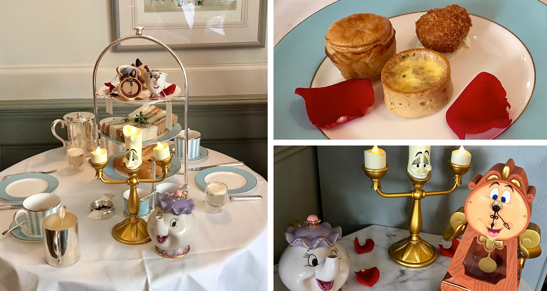 Beauty and The Beast themed afternoon tea at Town House At The Kensington