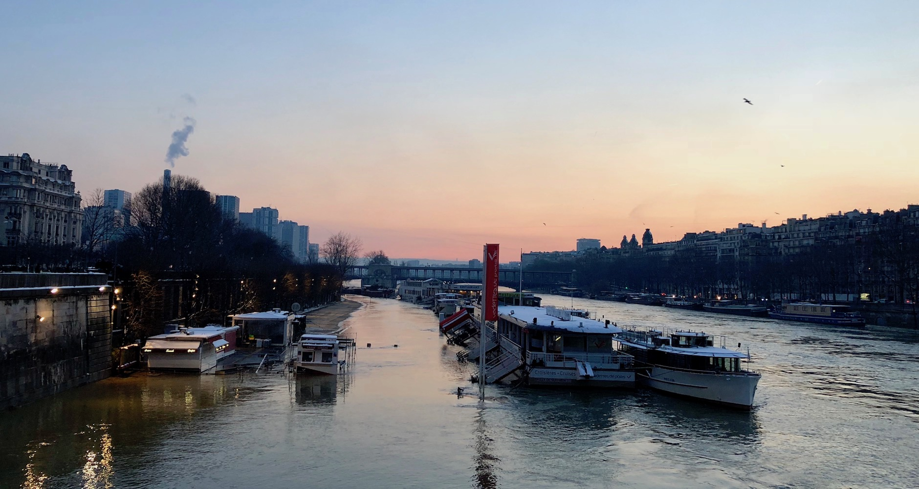 The river Seine at sunset