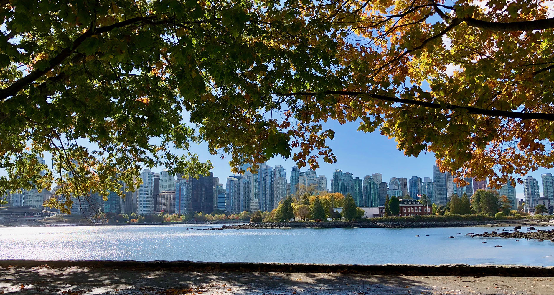 Cycling around Stanley Park in Vancouver, Canada
