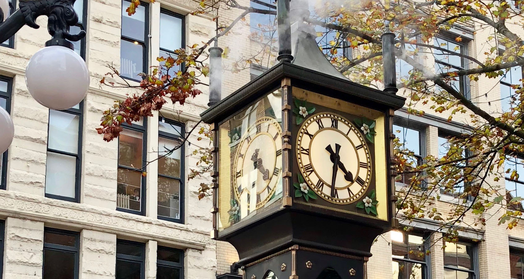 The steam clock in Gastown, Downtown Vancouver, Canada