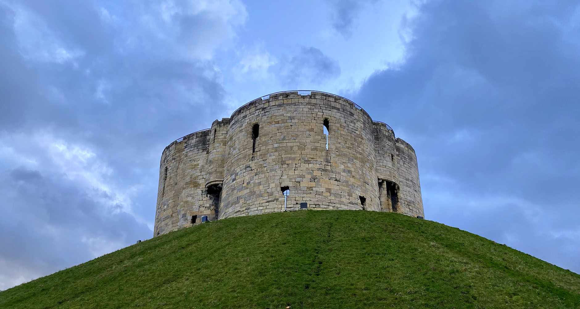 Clifford's Tower; the remains of York Castle
