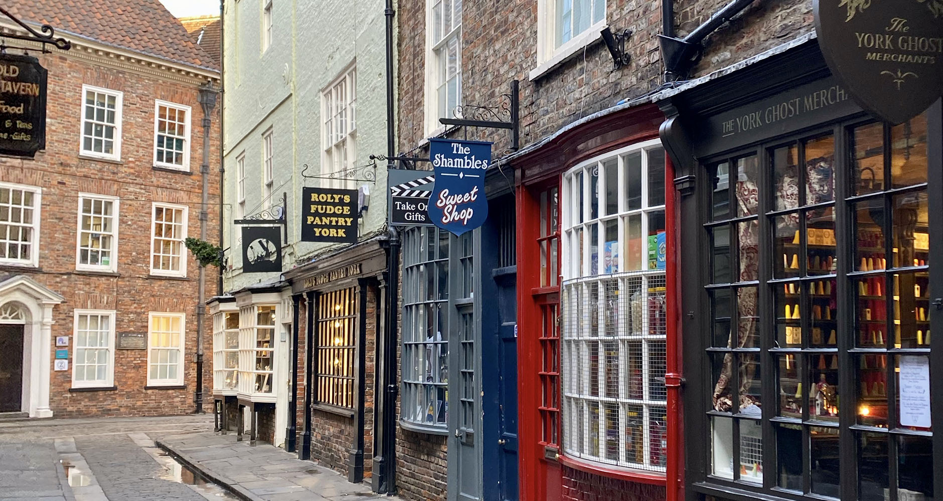 The famous narrow medieval street known as the Shambles